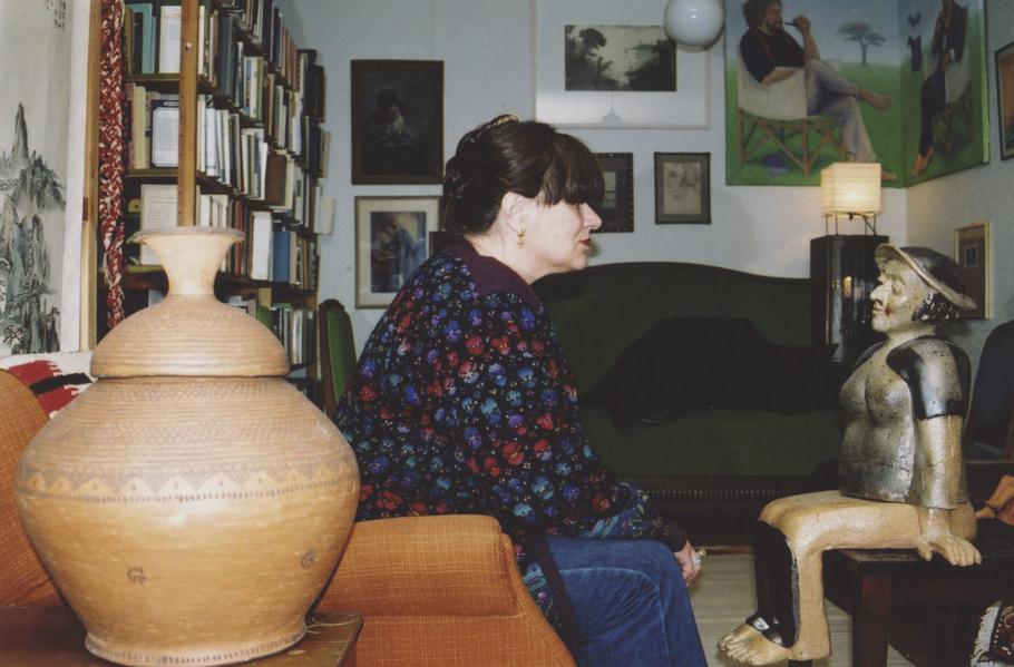 Elina Sorainen Baggbölen kodissa Pernajassa.