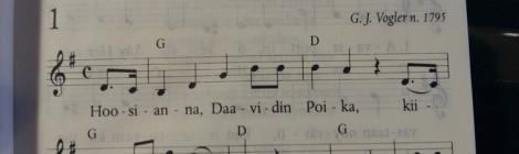 Ensimmäinen adventti Porvoon tuomiokirkossa, Hoosianna
