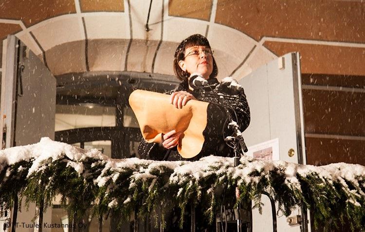 Porvoon joulurauhanjulistus Mikaela Nylander
