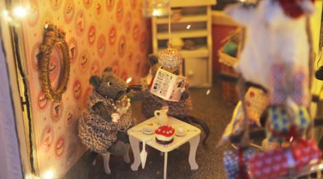 Joulun näyteikkunakilpailu Cafe Fanny