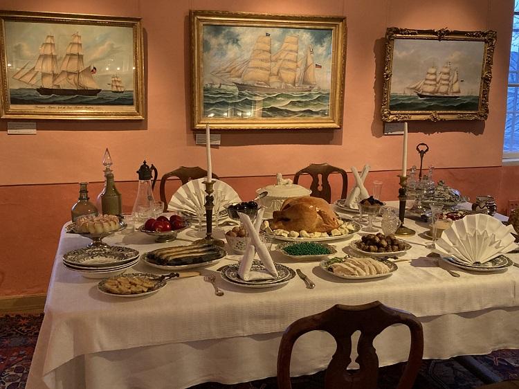 Sneckenströmin joulupöytä 2020 Porvoon museo