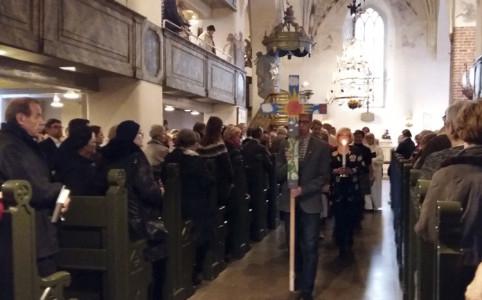 Ensimmäinen adventti Porvoon tuomiokirkossa.