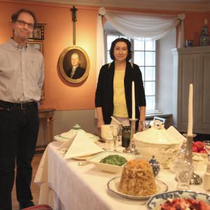Porvoon museo Holmin talon joulupöytä 2015.