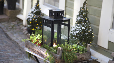 Jouluasetelma Vanhassa Porvoossa