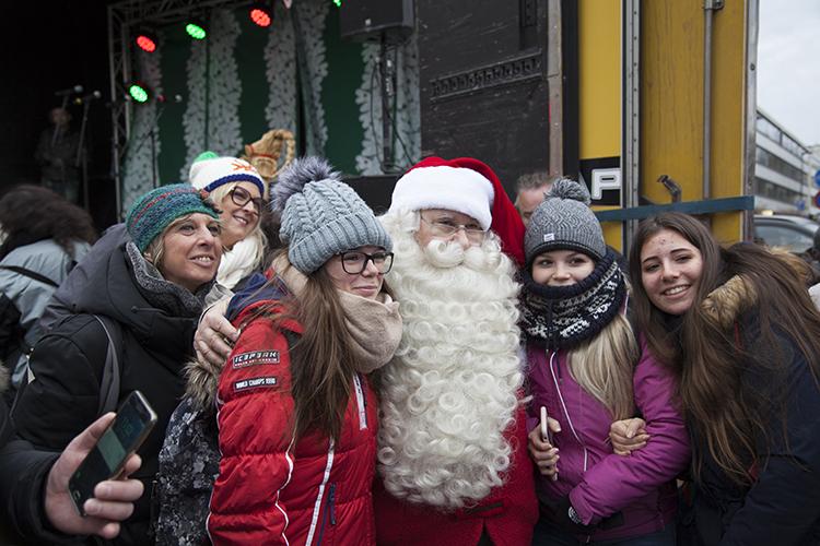 Joulupukki Porvoossa