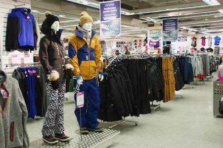 Top-Sportin myymälä Porvoon keskustassa.
